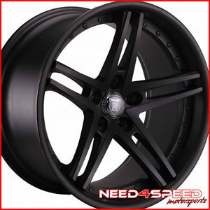 "19"" Volkswagen GTI Rohana RC5 Matte Black Concave Wheels Rims"