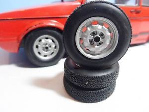 Modified Tuning Spares or Diorama 1 18 Scale VW GTI Steel Rims Wheels Tyres