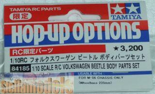 84185 Tamiya 1 10 R C Volkswagen Beetle Body Parts Set