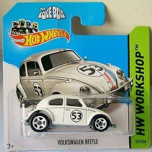 Hot Wheels VW Beetle Herbie The Love Bug Carded Volkswagen New Disney