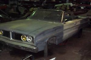 1966 Dodge Coronet 440 Convertible Parts or Fixer Roller Lots of Great Parts