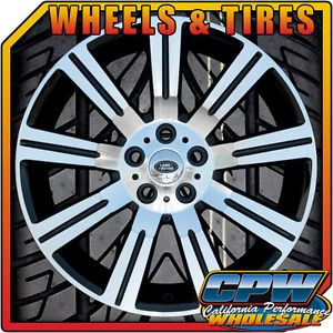 "20"" Rims Wheels and Tires for Range Rover Sport LR3 HSE Stormer Black Machined"