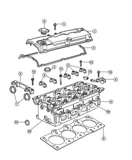 New Genuine Mopar 4781639AB Cylinder Head Gasket