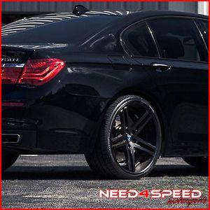 "22"" Mercedes Benz W221 S550 S600 S63 S65 Rohana RC5 Black Concave Wheels Rims"
