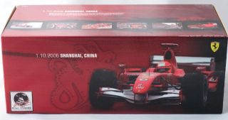1 18 Ferrari 248 F1 Hot Wheels Schumacher 2006 China