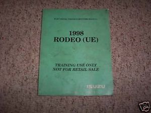 1998 Isuzu Rodeo Electrical Wiring Diagram Book