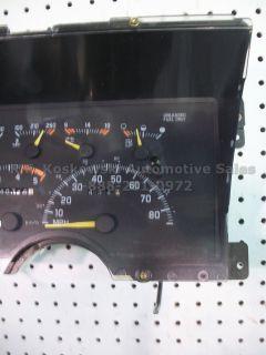 Interior Dash Instrument Cluster Speedometer Gauge Assly Chevy GMC Pickup Truck