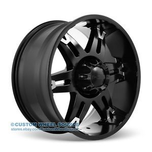 "22"" Black Dodge Ford GMC Hummer Lincoln Dcenti DW902 Wheel and Tire Package"
