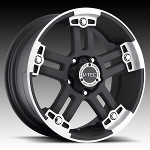 "17"" inch 6x5 5 Black Machined Wheels Rims 6 Lug Chevy Silverado 1500 Yukon Tahoe"