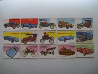 1954 Topps World on Wheels Lot 15 EX MT w Alfa Romeo Jaguar 2 U s Army