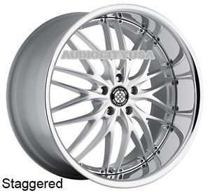 """22"""" MRR GT1 SMC for Mercedes Benz Wheels and Tires Staggered Rims s CL GL"""