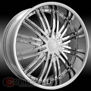 28 inch ELR19 Chrome Wheels Rims Chevy Tahoe Avalanche