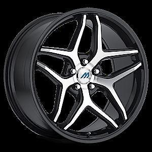 "20"" 2CRAVE Mach M3 Black Mach Wheel Rims Tires Fittoyota Nissan Honda Chevy Kia"