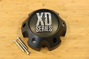 KMC XD Series 796 797 798 Matte Flat Black 6 Lug Wheel Rim Center Cap 1079L145