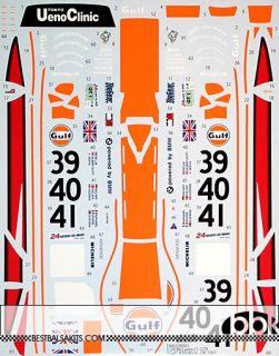1 24 Full Sponsor Decal McLaren F1 GTR Gulf 39 40 41 Le Mans 1997 for Fujimi