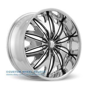 "20"" Velocity VW820 Chrome Wheel Tire Package for Mazda Mitsubishi Nissan Volvo"