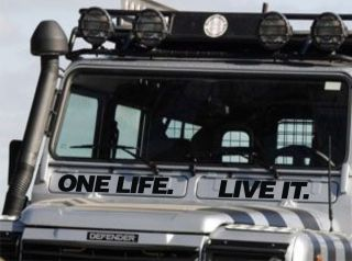 Land Rover Defender 110 90 Air Vent One Life Live It Decal Sticker