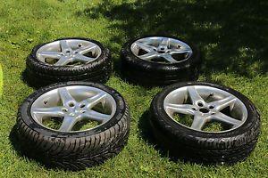"Audi VW 17"" Moda R6 Wheels Rims and Tires 225 45 17"