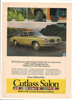 Original Vintage 1973 Oldsmobile Cutlass Salon American Color Advert