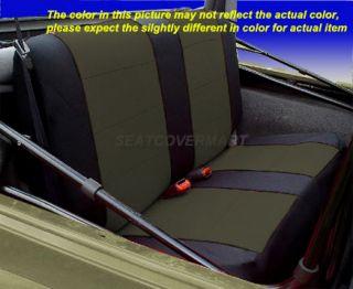 Neoprene Seat Cover Full Set Front Rear Charcoal for TJ 97 02 Jeep Wrangler