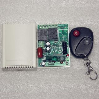 220V 2 Channel RF Wireless Remote Control for Light Witch Water Pump