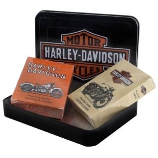 Harley Davidson Vintage Motorcycles Playing Cards Tin Set