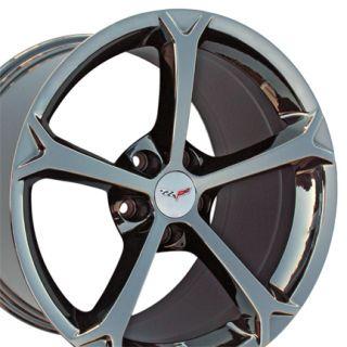 "19"" Chevrolet Corvette Grand Sport C6 Z06 Black Chrome 5456 Rim"
