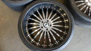 "Asanti AF 122 Custom Painted Black Chrome 22"" Wheels Rims BMW 7 Series w Tires"