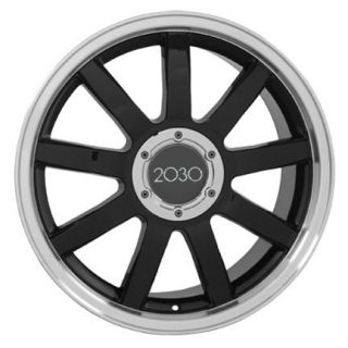 "18"" Black RS4 Style Deep Dish Wheels Set of 4 Rims Fit Audi A4 A6 A8 Allroad TT"