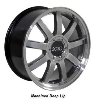 """18"""" Hyper Silver RS4 Style Deep Wheels Set of 4 Rims Fit Audi A4 A6 A8 Allroad"""