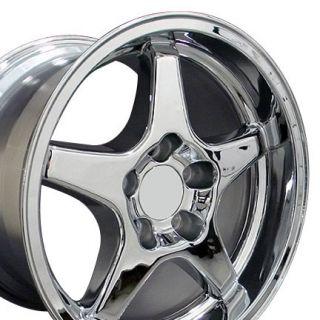 "17"" 9 5 11 Chrome ZR1 Style Wheels Rims Fit Camaro Corvette"