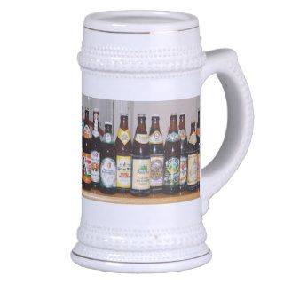 German beer bottles beer stein mugs
