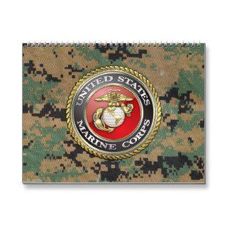 U.S. Marine Corps (USMC) Emblem [3D] Wall Calendars