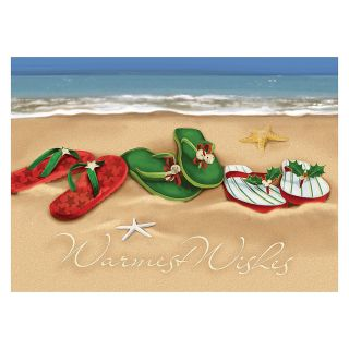 30percent Recycled Personalized Regional Holiday Cards 7 78 x 5 58  Holiday Beachwear Box Of 25