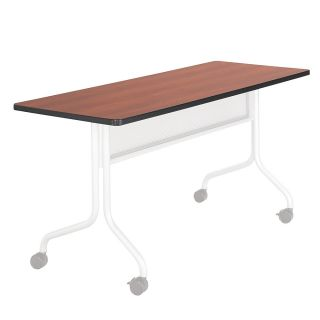 Safco Impromptu Mobile Training Table Top Rectangular 60 W x 24 D Cherry Base Sold Separately