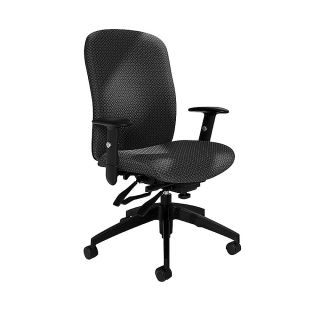 Global Truform High Back Multi Tilter Adjustable Chair 42 H x 26 W x 25 D Graphite
