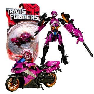 Hasbro Year 2007 Transformers Movie Series 1 Deluxe Class 6 Inch Tall Robot Action Figure   Autobot ARCEE with Crossbow Missile Launcher and 1 Missile (Vehicle Mode : Motorcycle RC 1100): Toys & Games