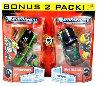 Hasbro Year 2007 Transformers Universe Robots In Disguise (Cybertron Re Issue) Series 2 Pack Deluxe Class 6 Inch Tall Robot Action Figure Set   SEARCH FOR THE PIRATE MOON   Autobot DOWNSHIFT with Twin Heavy Magnum Force Blasters and Decepticon CANNONBALL w