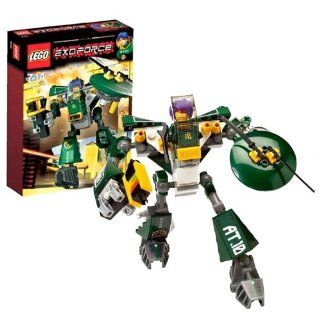 Lego Year 2007 Exo Force Series Mecha Vehicle Figure Set # 8100   CYCLONE DEFENDER with Laser Blaster and Rotating Defensive Shield Equipped with 2 Swords Plus Ryo Minifigure and Special Web Code (Total Pieces: 93): Toys & Games