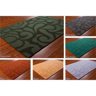 "Mandara Hand Tufted Contemporary Geometric Wool Rug (5' x 7'6"") Mandara 5x8   6x9 Rugs"