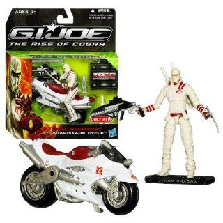 "Hasbro Year 2009 G.I. JOE Movie ""The Rise of Cobra"" Series Exclusive 5 Inch Long Vehicle Set   ARASHIKAGE CYCLE with Hidden Missile Launcher and 1 Missile Plus STORM SHADOW Action Figure with 2 Katana Swords, Sheath, Assault Rifle, Claw and Displ"