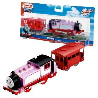 Fisher Price Year 2009 Thomas and Friends Trackmaster Motorized Railway Battery Powered Tank Engine 2 Pack Train Set   ROSIE with Red Brake Van Toys & Games