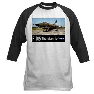 F 105 Thunderchief Fighter Bomber Baseball Jersey by zoomwear