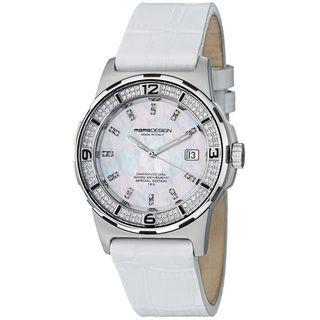Momo Design Women's MD093 D 02SL LS 'Pilot Lady' Diamond Dial Leather Strap Watch MOMO Design Women's More Brands Watches