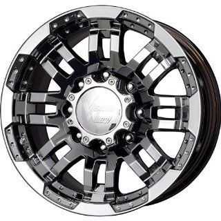 Vision Warrior 18 Black Chrome Wheel / Rim 5x4.5 with a 18mm Offset and a 83 Hub Bore. Partnumber 375H8865PB18 Automotive