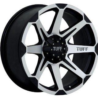 Tuff T05 16 Machined Black Wheel / Rim 8x6.5 with a 10mm Offset and a 125.0 Hub Bore. Partnumber T05EK8Q10K125: Automotive