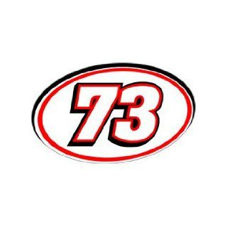 73 Number   Jersey Racing Window Bumper Sticker Automotive