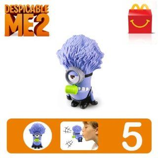 Despicable Me 2 #5 McDonald's Happy Meal Toy Minion   Purple Minion Noisemaker [Hard to Find Collectible Toy] (Number 5): Everything Else