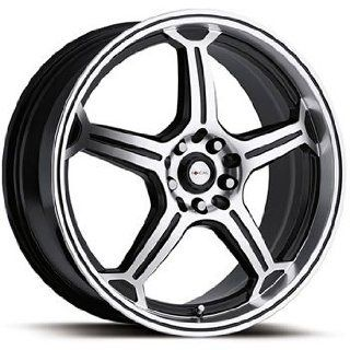 Focal F 01 16x7.5 Machined Black Wheel / Rim 5x112 & 5x4.5 with a 42mm Offset and a 72.62 Hub Bore. Partnumber 172 6746BR: Automotive