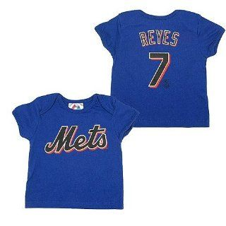 New York Mets Jose Reyes Newborn Team Name and Number T shirt   6 to 9 Months: Baby